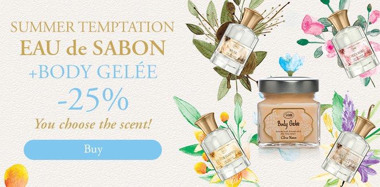 Body Gelee: Buy Eau de SABON and Body Gelee with 25% discount