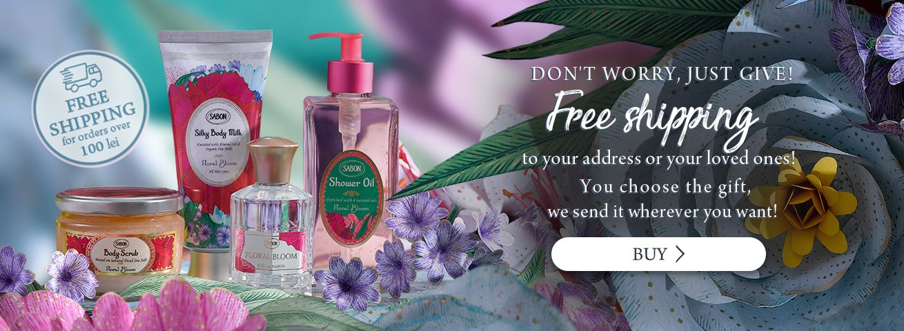 Free delivery: On any order over 100 lei