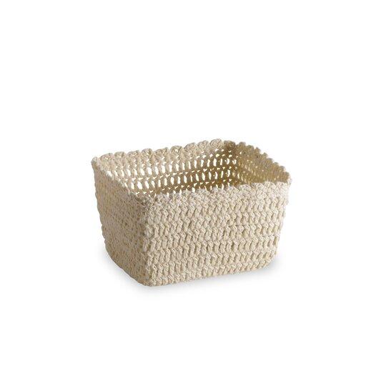 Crochet Basket Cream - S