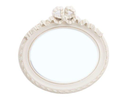 Mirror Oval Beige