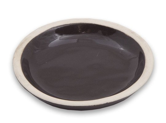Ceramic candle stand Round - Brown (Large)