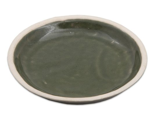 Ceramic candle stand Round - Green (Large)