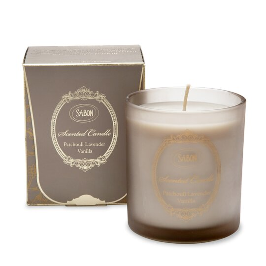Large Candle in Glass Patchouli-Lavender-Vanilla