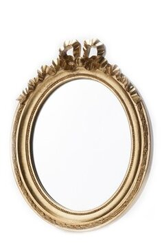 Baskets Mirror Oval Golden