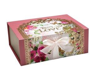 Cutii pentru cadouri Cutie cu magnet Rosy Love - L