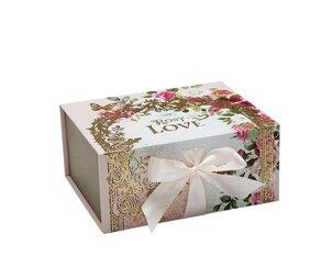Cutii pentru cadouri Cutie cu magnet Rosy Love - S