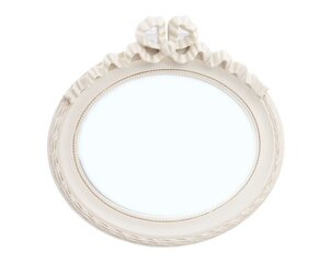 Home Fragrances Mirror Oval Beige
