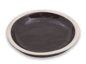 Ceramic candle stand Round - Brown (Small)