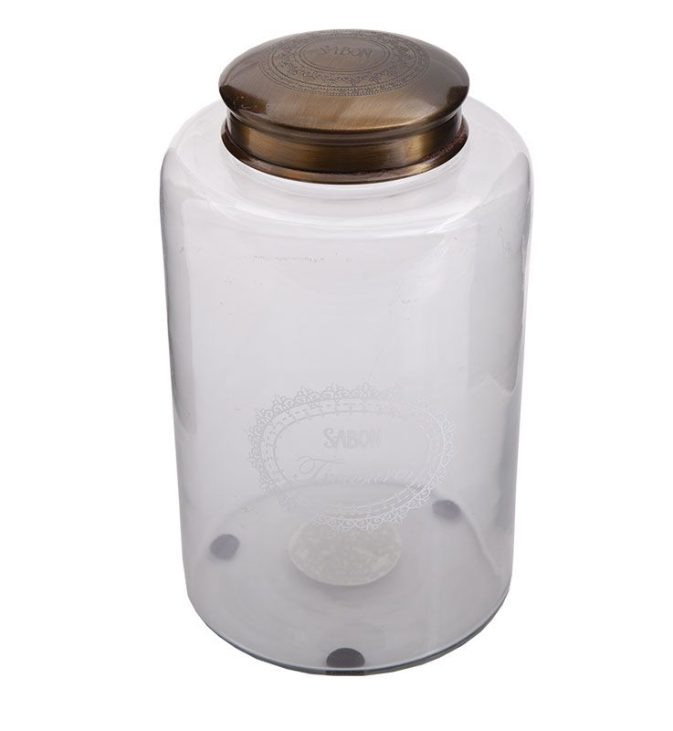 Borcan din sticla cu capac XL